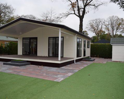 Dubbel chalet 50 vierkante meter met onderhoudsarme tuin en eigen parkeerplaats (20)