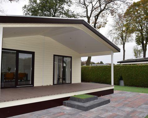 Dubbel chalet 50 vierkante meter met onderhoudsarme tuin en eigen parkeerplaats (22)