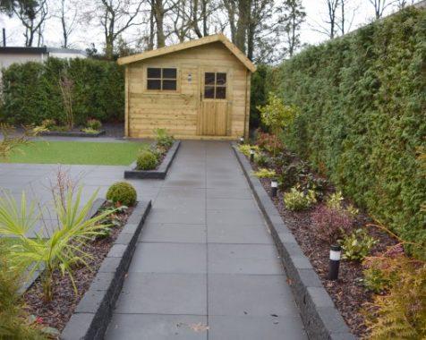 chalet 950×370 zo voor het instappen met prachtige zonnige en onderhoudsvrije tuin op chaletpark THE HAP in Voorthuizen. (1)